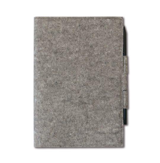 Skizzenheftumschlag aus Wollfilz in grau