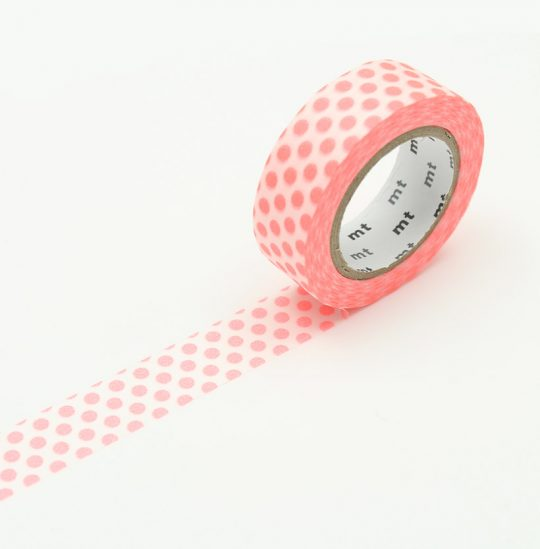 maskingtape dot shocking red