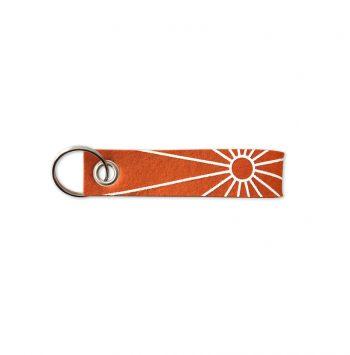 Schlüsselband aus Wollfilz mit Sonnenaufdruck