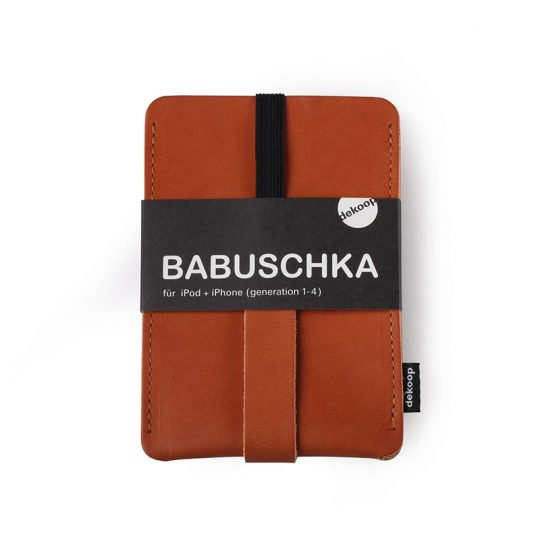 Babuschka iPhone 1-4 in cognac