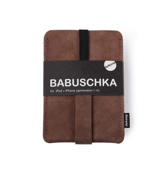 Babuschka iPhone 1-4 in tabak-nubuk