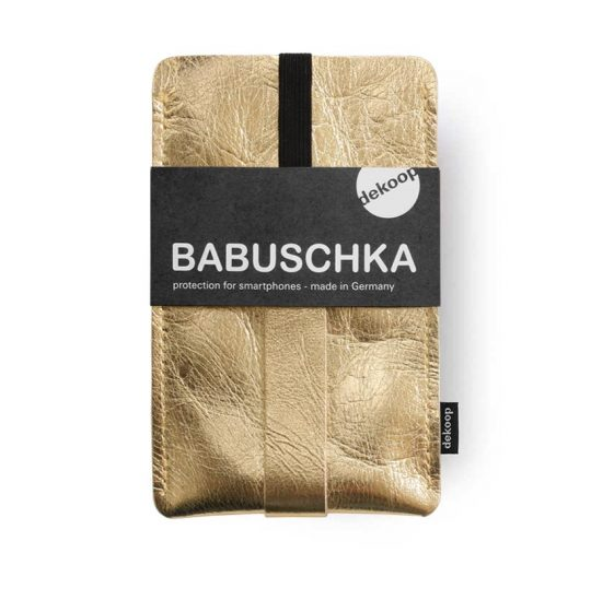 Babuschka Handyhülle iPhone 6 Leder in gold