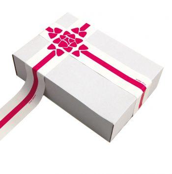 Paperloop Klebeband, Motiv Blüte in rot auf weiß