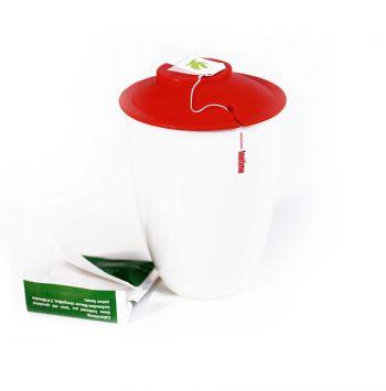 Teatime - Teebecher mit Beutelablage im Deckel