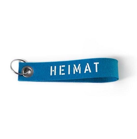 """Schlüsselband """"Heimat"""" aus Wollfilz"""
