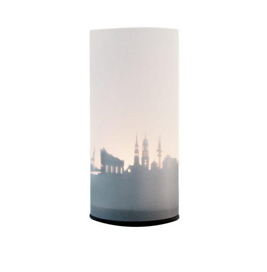 Windlicht mit Stadtsilhouette